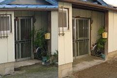 施工事例2:玄関アプローチのスロープ施工