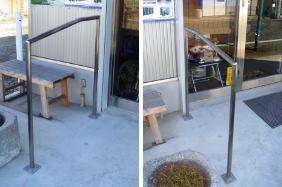 施工事例1:スロープとオリジナル手すり:前橋市若宮町