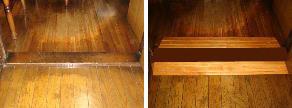 施工事例3:敷居に木製スロープ設置:高崎市